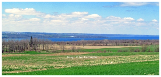View of Seneca Lake from the Leg 13 exchange Point near Hector, NY.