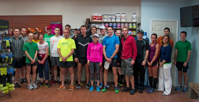 Maegan Krifchin, center, and members of the Binghamton Area Runners. Image © Joe Geronimo