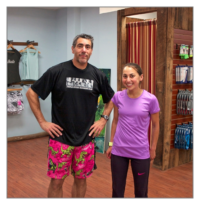 Joe Geronimo and Maegan Krifchin after a wet run Thursday June 6th 2013 in Binghamton, New York.