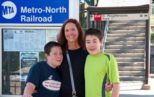 My wife Julie and our sons Max and Michael waiting for our train at Peekskill, New York. Image © Joe Geronimo