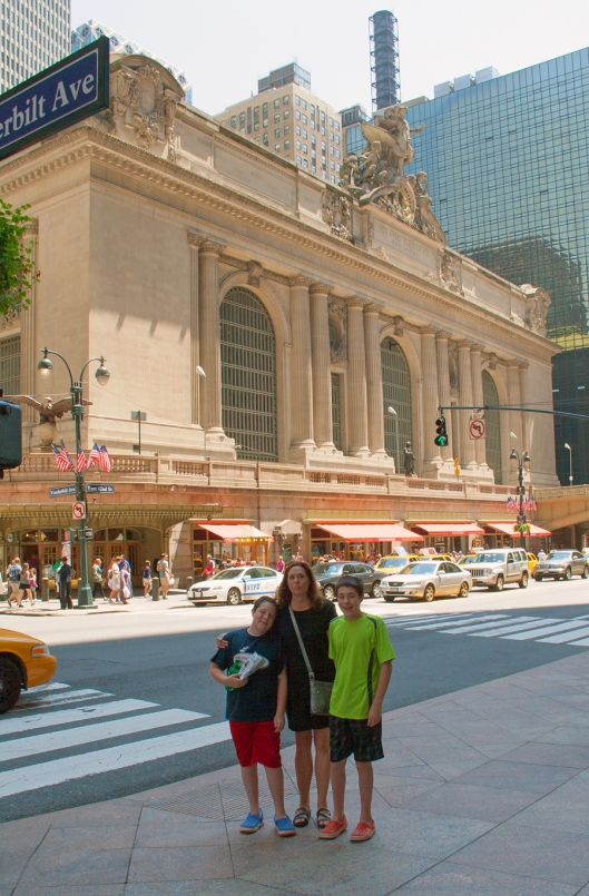 Outside of Grand Central on our way to Bryant Park. Image © Joe Geronimo