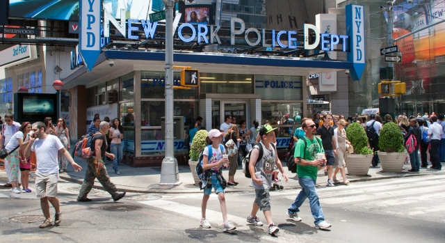 NYPD precinct at Times Square. Image © Joe Geronimo