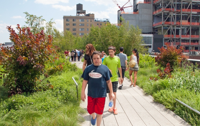 Walking the High Line. Image © Joe Geronimo