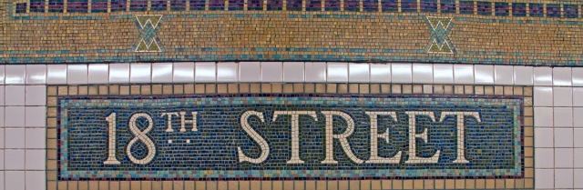 Love the old tile work of the NYC Subway System. Image © Joe Geronimo