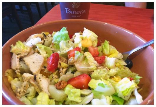 Strawberry, Poppyseed & Chicken salad. Image © Joe Geronimo