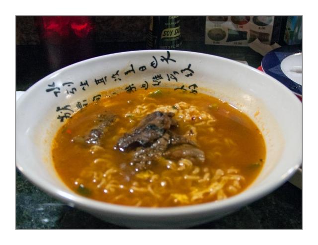 Ramen and beef short rib noodle bowl. Image © Joe Geronimo