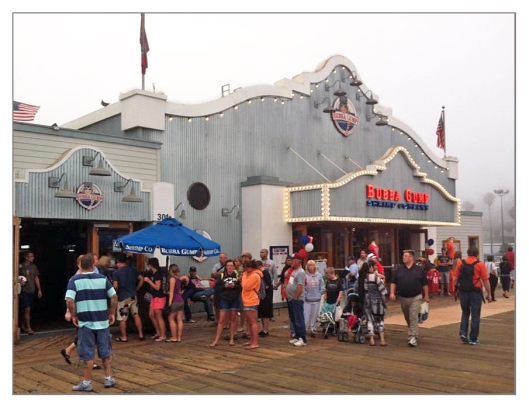 Bubba Gump Santa Monica Pier June 27th 2013. Image © Joe Geronimo