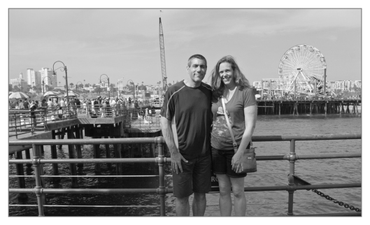 Julie & I on the Pier Santa Monica, California June 30th 2013.