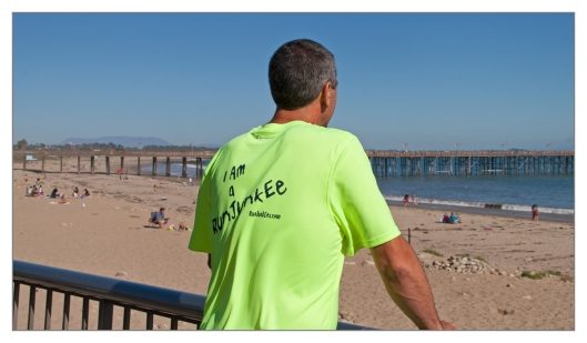Joe Geronimo looking out over Ventura Beach June 26th 2013. Image © Michael Geronimo