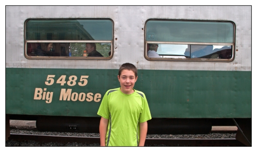Michael before boarding the Adirondack Scenic Railroad in Utica, New York. Image © Joe Geronimo