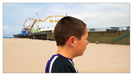 Michael taking in the sights on the beach in Santa Monica, California June 25th 2013. Image © Joe Geronimo
