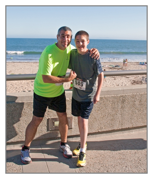 Michael and I just before the race Ventura Beach, California June 26th 2013. Image © Julie Geronimo