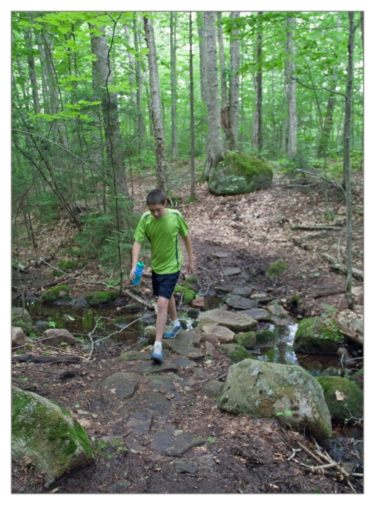 Michael navigating the Sis & Bubb Lake trail. Image © Joe Geronimo