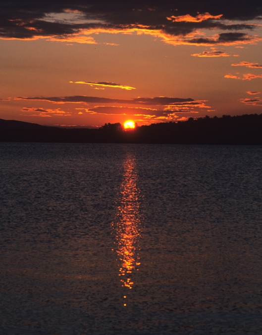 Sunrise on Lake Winnipesaukee, New Hampshire. Kodachrome 64 © Joe Geronimo