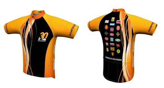 "Norfolk Southern ""Team NSPowerTain"" 2013 American Diabetes Association ""Finger Lakes"" Tour De Cure jersey."