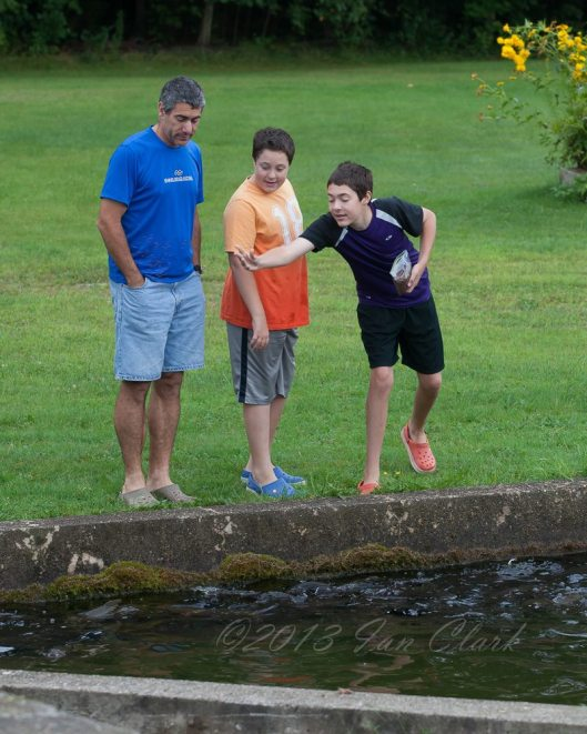 Boys and I at the fish hatchery. Image © Ian Clark