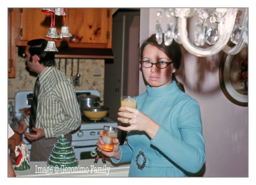 My aunt Barbara  seen here Christmas 1969 at my grandmothers house in Floral Park, New York.