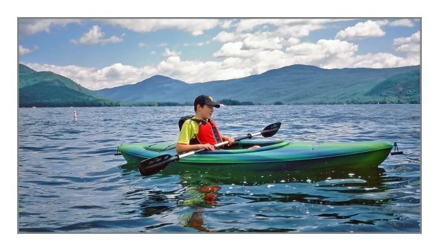 Michael enjoying Lake George Image © Joe Geronimo