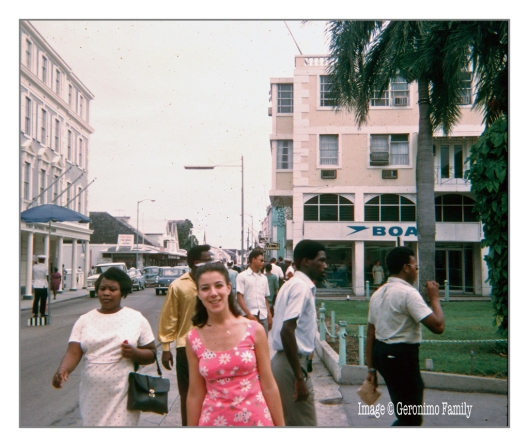 October 1968: My mom on her honeymoon in the Bahamas.