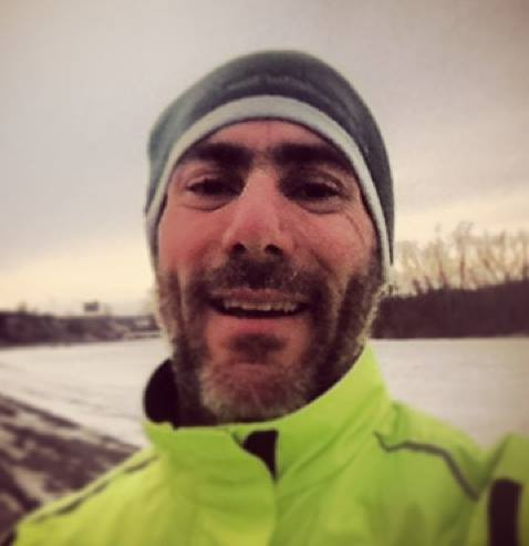 Selfie after a bitter windy and cold run.