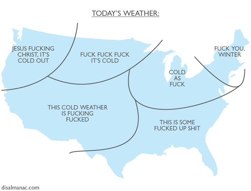 US Weather Map for January 2014.