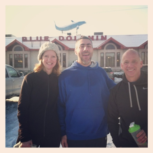 Sue Cain, Joe Geronimo & Scott Alston following our morning run on January 19th.