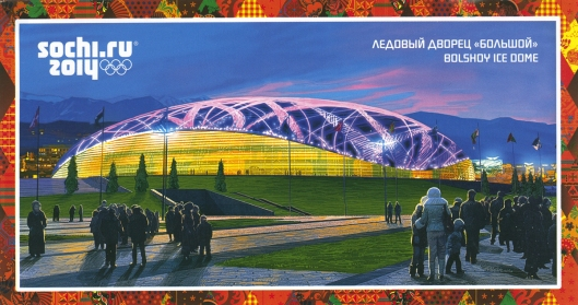 2014 Sochi, Russia Winter Olympic Games souvenir postcard.