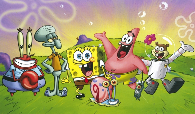 One of three Spongebob postcard designs from my collection.