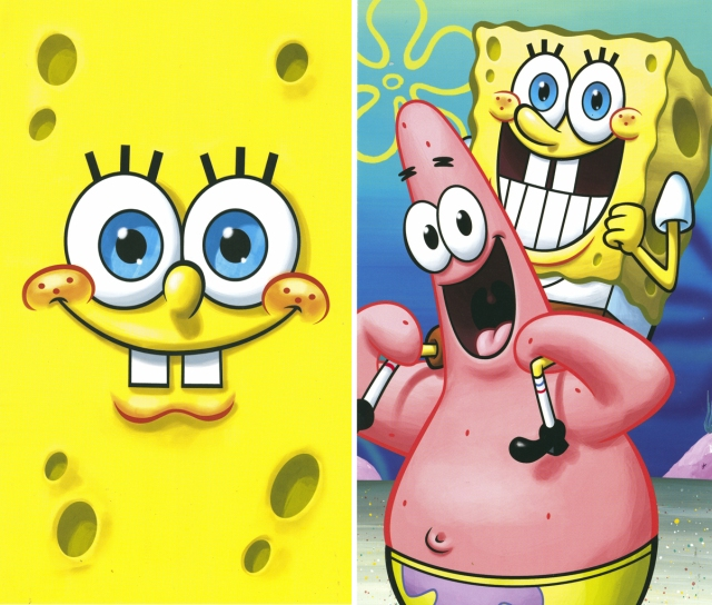 Two Spongebob postcard designs from my collection.