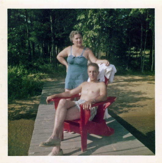 It's summer 1959 and my grandparents Mary and Ralph enjoy a summer afternoon on New Hampshire's Lake Winnisquam. Image © Geronimo Family Collection