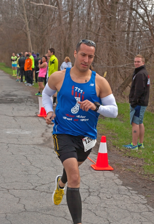 James Wilson along the Seneca 7 relay. Image © Joe Geronimo