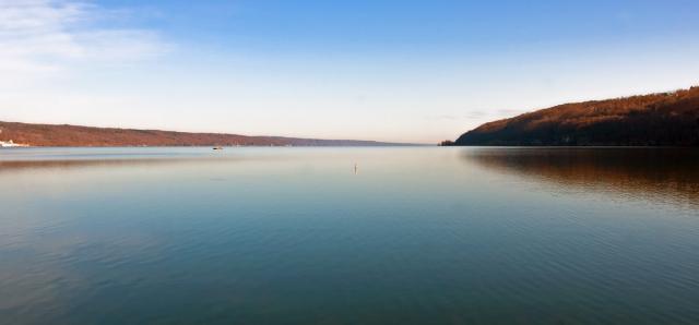 Seneca Lake looking north from its southern most point in Watkins Glen, NY. Image © Joe Geronimo 2014