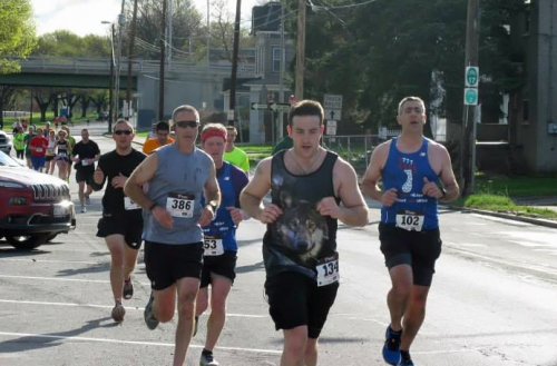 Joe Geronimo 2014 Binghamton Bridge Run Half Marathon.