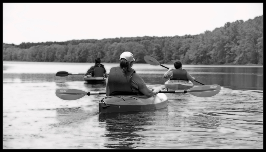 My wife and sons paddling on Long Pond June 8th 2014. Image © Joe Geronimo