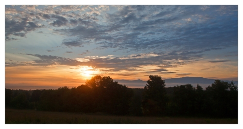 Sunrise, Northeast Kingdom of Vermont. Image © Joe Geronimo 2014