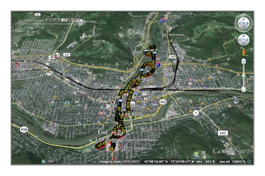 This mornings run via Google Earth. Exported from my Garmin GPS watch.