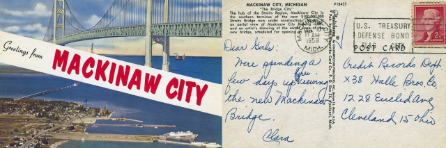 A look back to a postcard written in 1958.