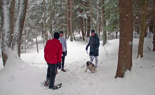 Friends Jim, TJ, Chris & Ruby at Wolfe Park February 9th 2015.