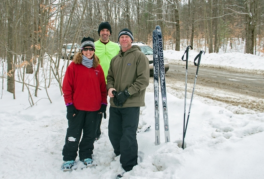 Gwen, Jim & Chris at Oakley Corners February 10th 2015.