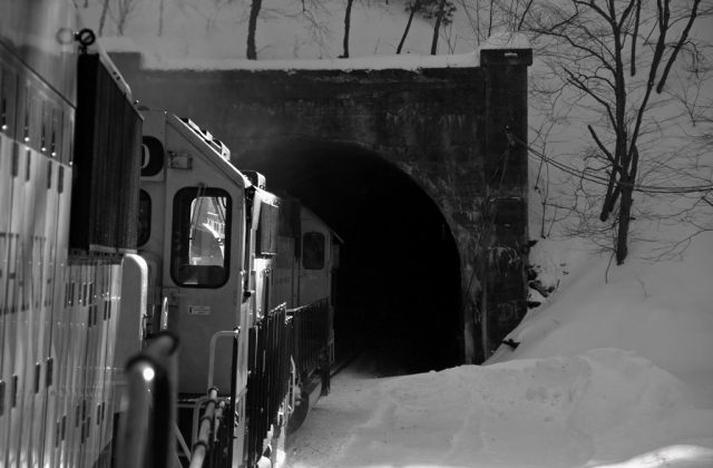 Cresting the Shawangunk Mountains and entering mile long Ottisville tunnel in Ottisville, NY.