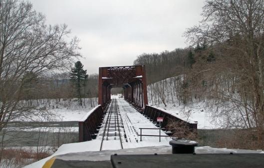 Crossing from New York into Pennsylvania at Tuston, NY.