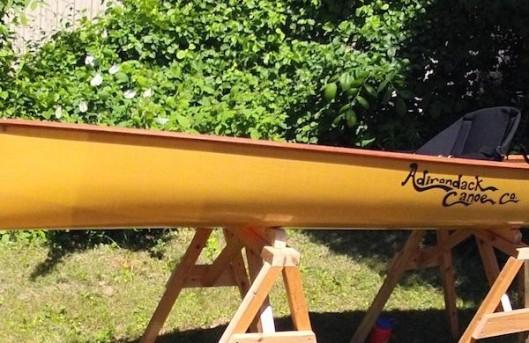 "Adirondack Canoe Company ""Skylight 12"" Kevlar layup."