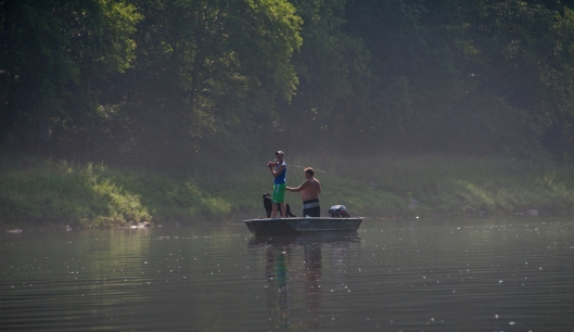Fishermen along the Delaware River July 19th 2015. Image © Joe Geronimo