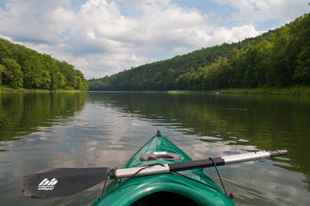 A quiet and serene section of the Delaware River July 18th 2015. Image © Joe Geronimo