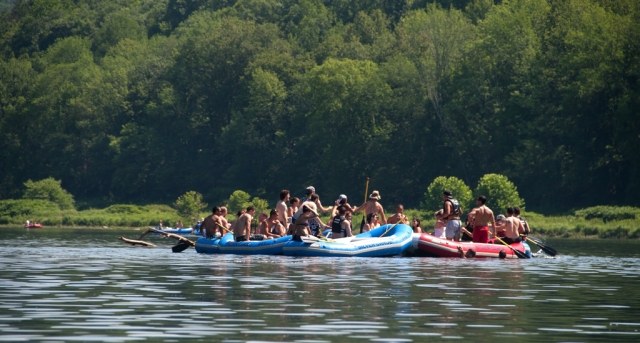 One of the hundreds of flotilla's along the Delaware on July 19th 2015. Image © Joe Geronimo