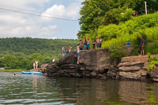 Summer fun along the Delaware River at Narrowsburg, NY July 18th 2015. Image © Joe Geronimo
