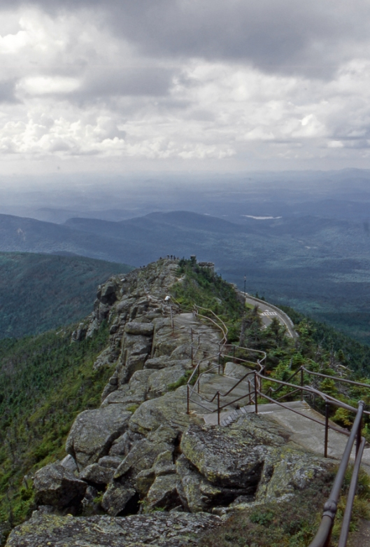 View looking north from the top of Whiteface Mountain in the high peaks of New York's Adirondack Park August of 2012.