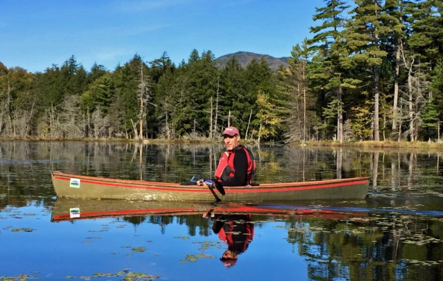 Paddling Second lake on the Essex Chain September 26th 2015. Image: Adirondack Connections Guide & Outfitting