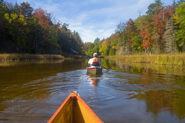 Exploring the outlet on First Lake Essex Chain September 26th 2015. © Joe Geronimo