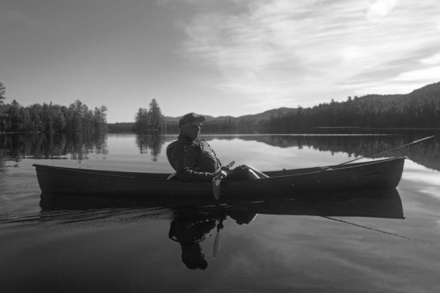 Sunrise on Third lake Essex Chain September 26th 2015. © Joe Geronimo